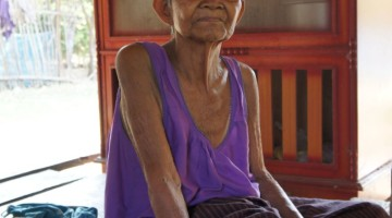 A Portrait of Yai in Lamplaimat, Thailand