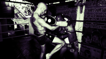 """Chris """"THE POLISH PUNISHER"""" Kwiatkowski Training At Lookchaomaesaithong Sit Namkabuan Gym"""