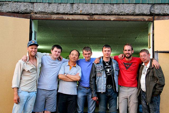 bikers in Mogocha Russia