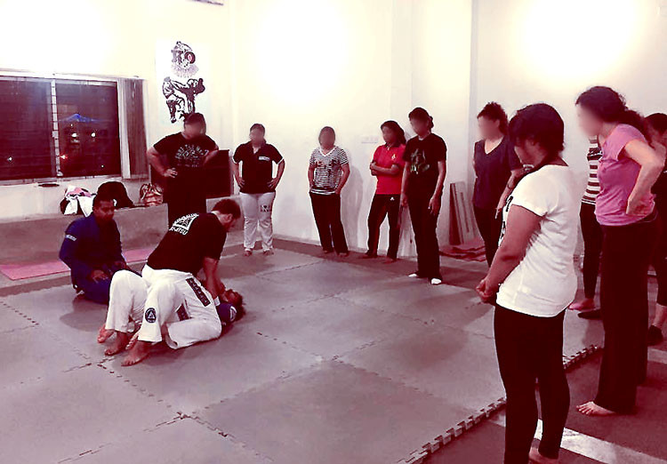 Ayesha's women's self defense seminar in Dhaka